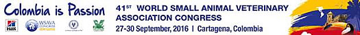 41st World Small Animal Veterinary Association Congress taking place September 27-30, 2016 in Cartagena, Colombia